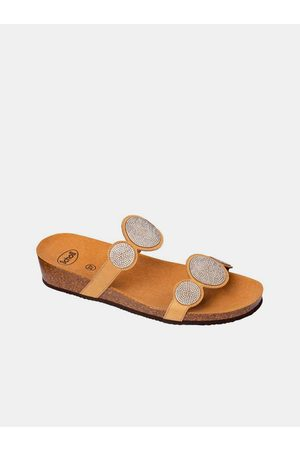 Scholl Béžové dámské pantofle Sharon