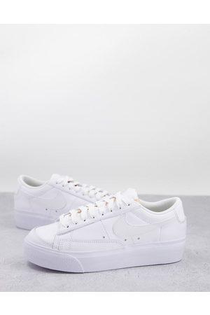 Nike Blazer Low Platform trainers in triple white