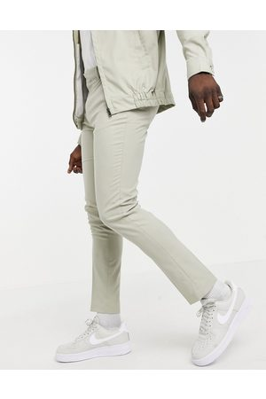adidas Smart trouser co-ord in ice grey-Stone