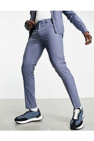 ASOS Muži Chino - Smart trouser co-ord in denim blue