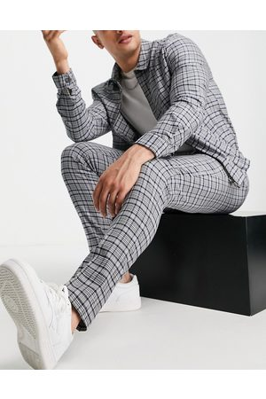 ASOS Smart trouser co-ord with blue tartan check
