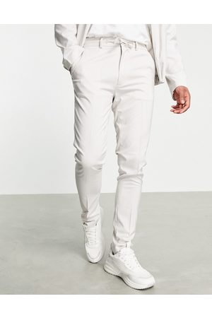 ASOS Muži Chino - Smart trouser co-ord in ice grey