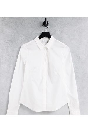 ASOS ASOS DESIGN Tall long sleeve fitted shirt in stretch cotton in white