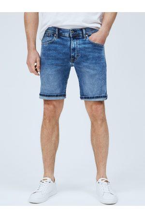 Pepe Jeans Pánské modré džínové šortky Cane