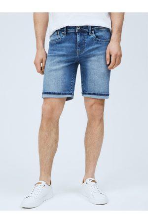 Pepe Jeans Pánské modré džínové šortky Hatch