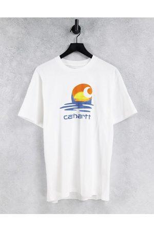 Carhartt Muži S krátkým rukávem - Lagoon C t-shirt in white
