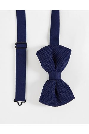ASOS Knitted bow tie in navy