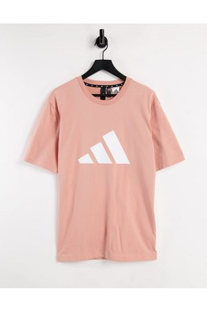 adidas Adidas Training t-shirt with large BOS logo in pink