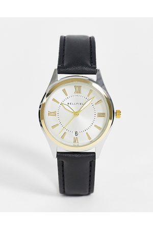Bellfield Muži Hodinky - Mens black watch with two tone dial