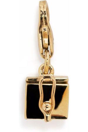Tom Wood Box Charm 9kt yellow gold pendant