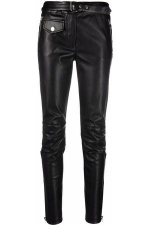 Moschino Ženy Kožené kalhoty - Faux-leather Slim-Fit trousers