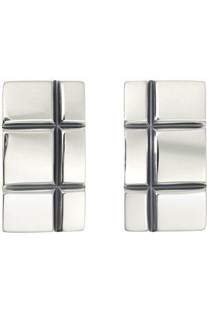 Christofle Graphik sterling silver cufflinks