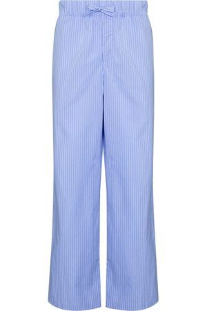 Tekla Striped drawstring pajama trousers