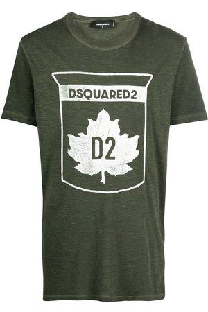 Dsquared2 Muži S krátkým rukávem - Maple leaf-print T-shirt