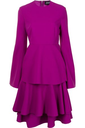 Solace Long-sleeved tiered skirt dress