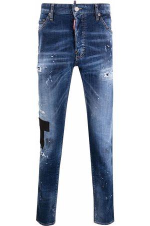Dsquared2 Muži Slim - Distressed slim-fit jeans