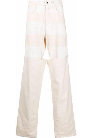 Marni Wide layered-leg jeans