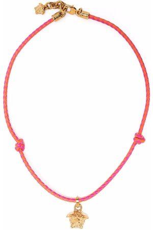 VERSACE Medusa head pendant braided necklace