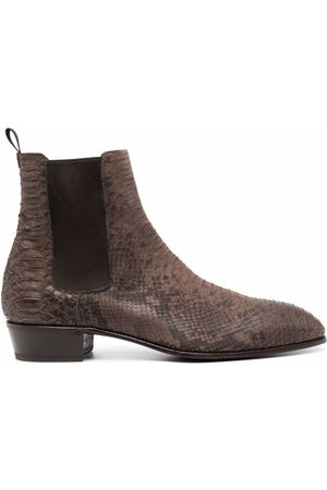LIDFORT Snake-effect ankle boots