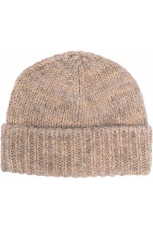 Maison Margiela Ženy Klobouky - Ribbed wool beanie hat