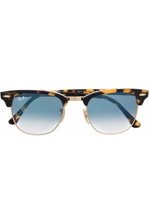 Ray-Ban Sluneční brýle - Clubmaster tortoiseshell-frame sunglasses