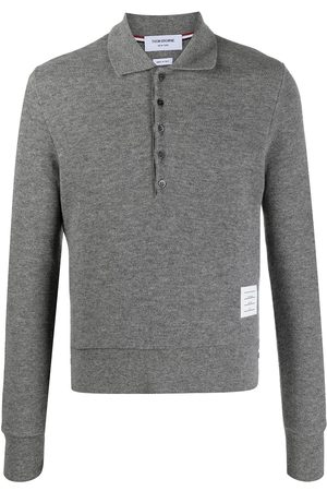 Thom Browne Long-sleeved cashmere polo shirt