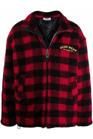 GCDS Looney Tunes checked fleece jacket
