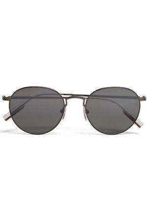 Ermenegildo Zegna Leggerissimo round-frame sunglasses