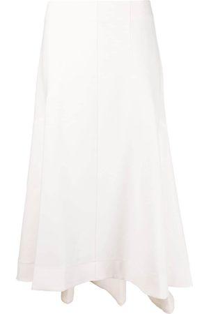 12 STOREEZ Asymmetric A-line midi skirt