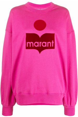 Isabel Marant Ženy Mikiny bez kapuce - Logo-print crew neck sweatshirt