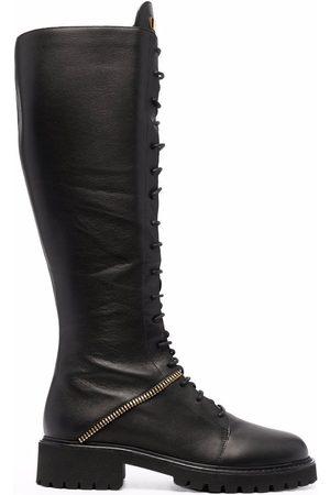 Giuseppe Zanotti Ženy Nad kolena - Lace-up knee-high boots