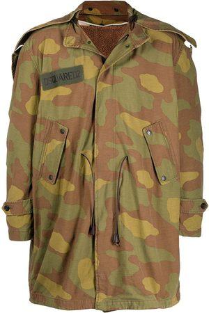 Dsquared2 Camouflage print parka coat