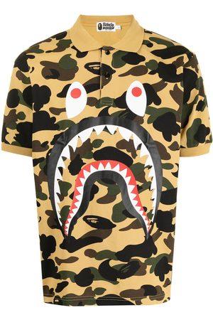 A Bathing Ape Shark camouflage-print polo shirt