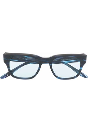Barton Perreira Sluneční brýle - Vesuvio marbled square-frame sunglasses