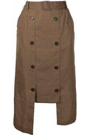 Rokh Ženy Asymetrické - Asymmetric double-breasted skirt