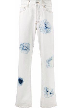 MARCELO BURLON Muži Rovné nohavice - Tie-dye straight-leg jeans