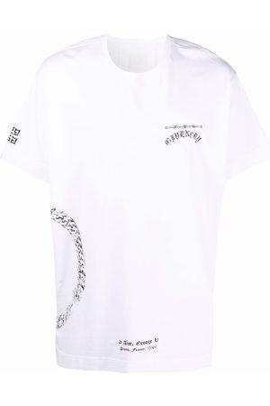 Givenchy Muži S krátkým rukávem - Chain logo-print short-sleeve T-shirt