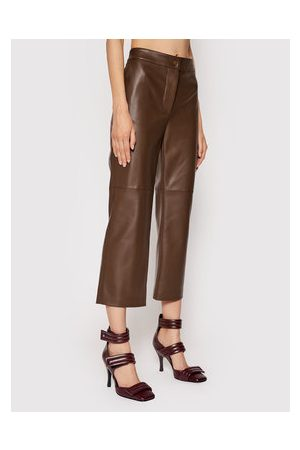 LIVIANA CONTI Kalhoty z imitace kůže