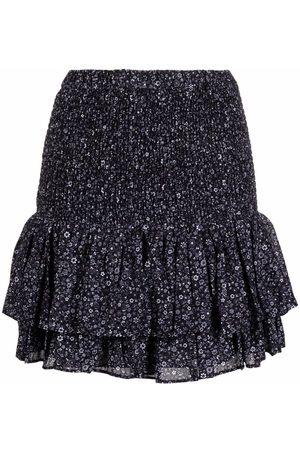 Michael Kors Ženy S potiskem - Floral-print peplum mini skirt