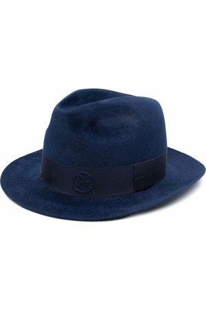 Ruslan Baginskiy Ženy Klobouky - Embroidered logo fedora hat
