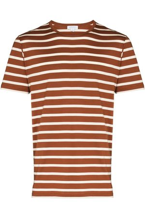 Sunspel Stripe-pattern cotton T-shirt