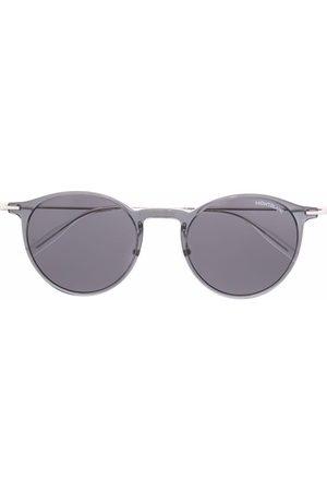 Mont Blanc Round-frame metal sunglasses