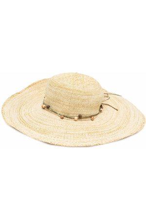 Moschino 2000s bead-embellished sun hat