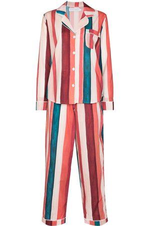 Desmond & Dempsey Medina vertical-stripe pyjama set
