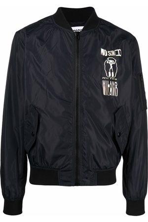 Moschino Glitch-effect bomber jacket