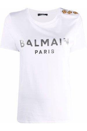 Balmain Ženy S krátkým rukávem - Logo-print T-shirt