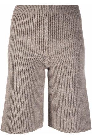 ERIKA CAVALLINI Ribbed-knit bermuda shorts
