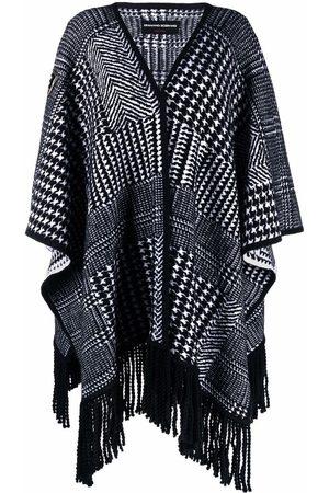 Ermanno Scervino Houndstooth-knit poncho