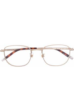 Mont Blanc Oval-frame metal glasses