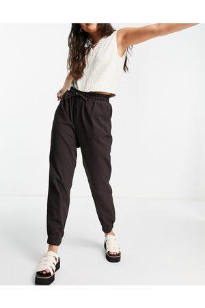 New Look Ženy Tepláky - Lightweight denim jogger in chocolate brown